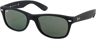 Ray-Ban RB2132 622 Wayfarer Sunglasses Black Rubber Frame / Green Lens 52mm