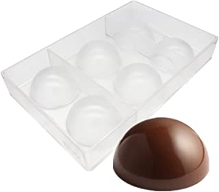 Large Half Ball Chocolate Mold Ball Polycarbonate Mould Chocolate Semi Sphere Mold Tray (Large 2.5inch)