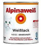 ALPINA Alpinaweiss Lack Farbe Weisslack weiß 750 ml Liter SEIDENMATT