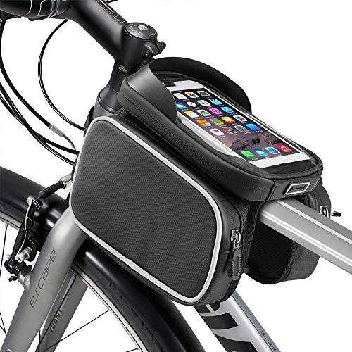 JY Impermeable Gran Capacidad Bici de Carretera Bolso Del Marco Bolsa Doble Bolsa de Manillar Bolsa de Rack Bolsa de Triángulo Portátil Bolsa Cuadro Bicicleta Bolsa de Teléfono con Panta