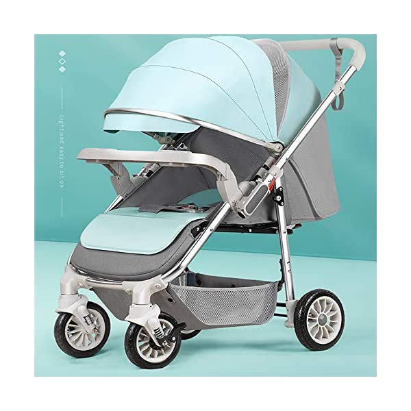3-in-1 Adjustable Stroller The Stroller Can Be Converted into A Chair That Can Be Turned and Tilted High-Quality Foldable and Portable New Baby Multifunctional Strollercool and Breathable Stroller Makeups Function: 3 in 1; color is blue; compatibility: 0-42 months baby; load capacity: 0-15 kg. Sit or lie down comfortably at home, shopping or traveling. Easy to fold: A case that can be easily and quickly folded with only one hand. The size is reduced, which is ideal for travel and trunk space. The seat can be flipped, the baby can face you or on the street; the car seat can be divided into 3 levels of tilt: 100°-145°-180° (sitting, tilting and sleeping). 1