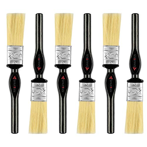 Spartan 1 Inch (25 MM) Paint Brush Set of 6 (Multicolor)