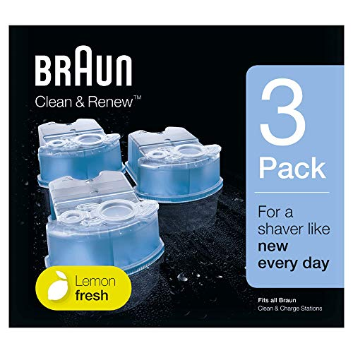 Braun Clean & Renew Refill Cartridges CCR - 3 Count (Packaging May Vary)