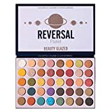 Beauty Glazed 40 Colors Reversal Planet Eyeshadow, Pro High Pigmented Makeup Palette Easy to Blend Shades Metallic Matte Glitter Shimmers Eyeshadow Sweatproof and Waterproof Eye Shadow Tray Sets