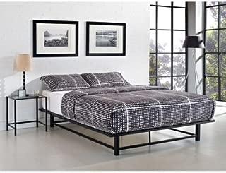 Parsons Full Metal Ledge Platform Bed, Black