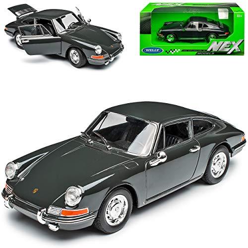 Welly Porsche 911 Urmodell Coupe Grau 1963-1973 1/24 Modell Auto