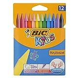 Bic Kids Plastidecor Pastelli Colorati Confezione da 12 Pastelli Colori Assortiti, multico...