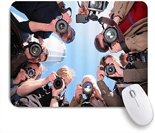 VORMOR Mauspad - Journalist Reporter Kamera Paparazzi - Gaming und Office rutschfeste Gummibasis Mauspads,240×200×3mm