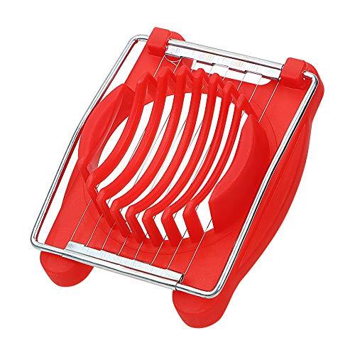Küchengeräte Chopper Edelstahl Eierschneider Gadgets Manuelle Küchenmaschinen (Rot)