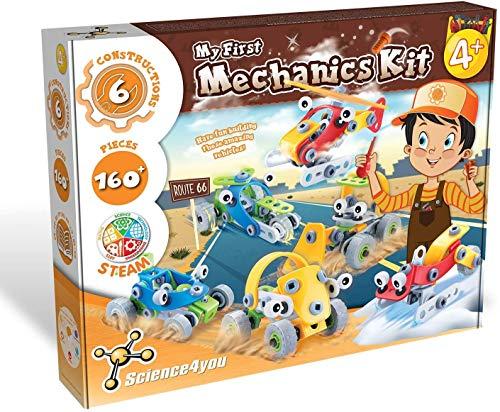Science4you - Mi Primer Kit de Mecánica Multilenguas, Juguete Educativo y Cientifico, 6 Construcciones, Juego STEM para Niños +4 Años