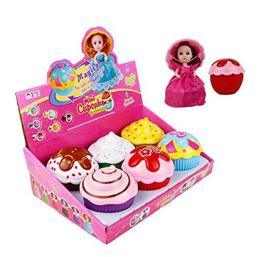 libelyef Schöne Kuchen Puppe Spielzeug Transformieren Mini Cupcake Prinzessin Puppe Magie Geschenk Spielzeug Für Kinder Transformiert Duftenden Mädchen Lustiges Spiel Geschenk (zufällige Farbe)