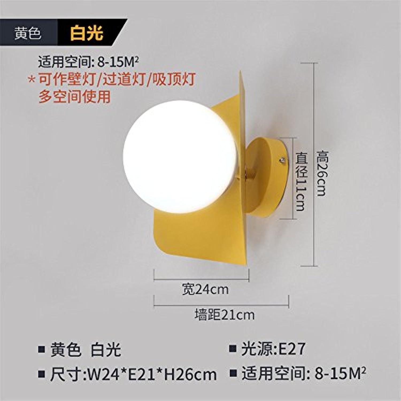 StiefelU LED Wandleuchte nach oben und unten Wandleuchten Schlafzimmer Wand lampe Nachttischlampe im Wohnzimmer an der Wand W24 e21h26 cm, gelb-weies Licht