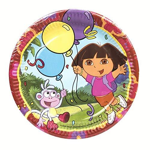 Desconocido Platos para Cumpleaños de Dora la Exploradora