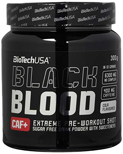 Biotech USA Black Blood CAF+ (400 mg koffie / 6300 mg NO COMPLEX) - Cola - 300g