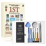 Ponoser® Batería para iPhone SE de Alta Capacidad 1800mAh con Kits de Herramientas de Reparación