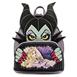 Loungefly Disney Villains Scene Maleficent Sleeping Beauty Womens Double Strap Shoulder Bag Purse
