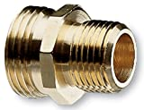 Nelson Industrial Brass Pipe and Hose Fitting for Female 1/2-Inch NPT to Female Hose, Double Male 50570