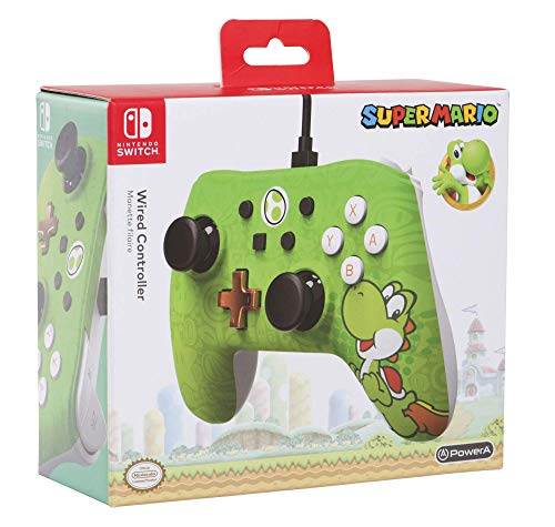 Mando con cable PowerA para Nintendo Switch Yoshi