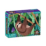 """Mudpuppy Three-Toed Sloth Mini Puzzle, 48 Pieces, 8"""" x 5.75"""" – Perfect Family Puzzle for Ages 4+ – Jigsaw Puzzle Featuring a Colorful Illustration of a Sloth, Informational Insert Included"""