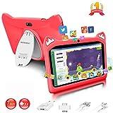 Tablette Enfants 7 Pouces Android 9.0 Pie Certifié Google GMS 3Go RAM 32Go/128Go ROM Tablette Tactile 1.5Ghz Quad Core OTG WiFi Tablet PC Netflix Youtube Jeux Éducatifs Tablette pour Enfant(Rouge)