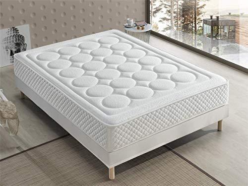 Bellavista Home Matratze Ibiza Memory Foam-Viskoelastisch 135x190x20 cm. Hotelkomfort, sanfter Empfang mit Festigkeit, Therapeutisch. Liegehärten H3&H4, 8 Jahre Garantie.