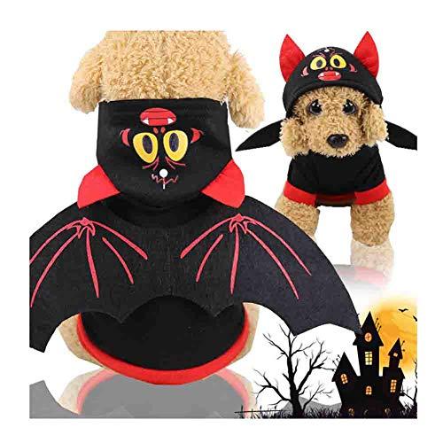 LMNZM Halloween Kostuum, Huisdier Kostuum Kleding, Duivel Kostuum Halloween Kostuum, Geschikt voor Puppy Pet Warm Kleding, Geschikt voor Alle Honden (Zwart en Rood), XXL