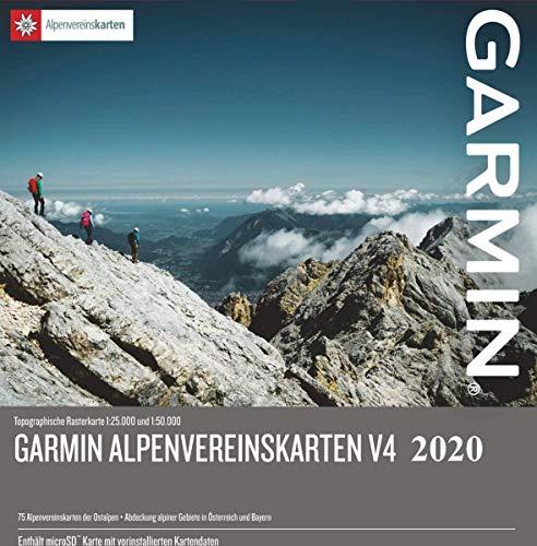 Alpen Garmin Carte Topo 4 Go Micro SD. (Allemagne Suisse Italie Autriche France) Carte Topographique GPS Carte Loisirs Randonnées Vélo Randonnée Trekking Outdoor GPS, PC et Mac