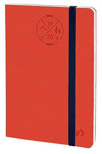 Quo Vadis 14800220MQ Anno 2020 PRESIDENTE 16 MESI ML Everest, 21 x 27 cm, Elastico, Settimanale - Sett/Dic, Rosso