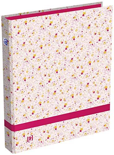 Oxford - Archivador de flores (A4, lomo 40 mm, 4 anillas redondas, cubierta de...