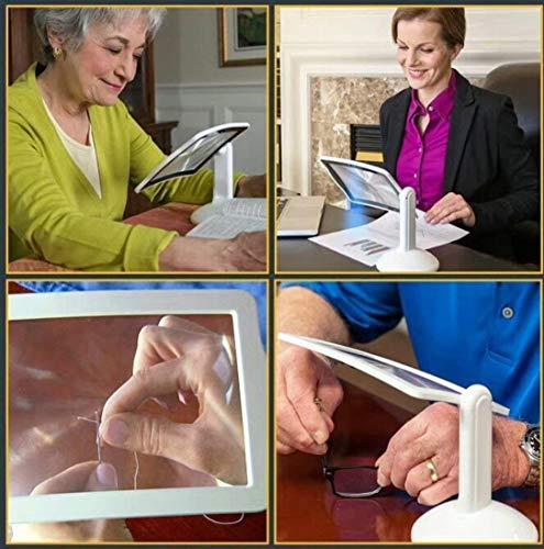 Inschakelen van de LED handsfree vergrootglas met het lichte, draagbare vergrootglas verlicht door lezen, inspectie, lassen, naaien, reparatie, hobby Craft wzmdd