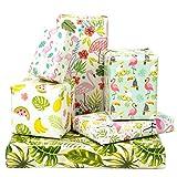 MAYPLUSS Wrapping Paper Sheet - FoldedFlat - 6 Different Summer Design (22.4 sq.ft.TTL.) - 19.6 inch X 27.5 inch Per Sheet