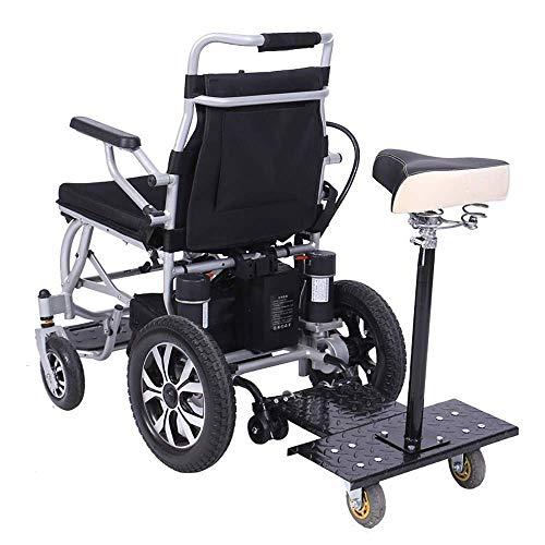 KFDQ Elektrische Rollstühle, Tresor Lithium-Batterie Elektro-Rollstuhl Manuell Elektrisch Dual-Use Zwei Personen Intelligenter Leichtbau Elektrorollstuhl 360 ° Joystick