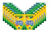 Crayola Washable Fine Line Markers, 12 Sets of Markers, Assorted