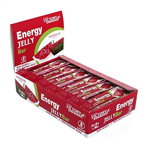 Energy Jelly Bar Sandía. 32g x 24 barritas Aportan vitaminas, minerales y zumo de remolacha. Sin Gluten.