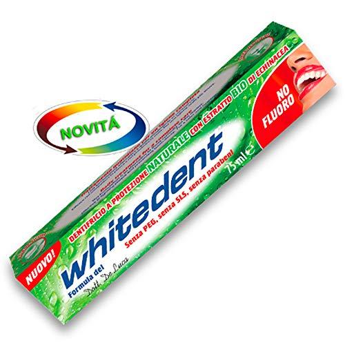 x4 WHITEDENT Dentifricio Naturale Senza Fluoro, PEG, SLS, Parabeni CONFEZIONE DA 4 PEZZI