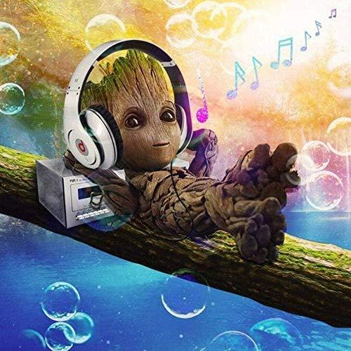 JDFKK Rompecabezas De 1000 Piezas Para Adultos Puzzle Groot Escuchar Música Material De Madera Para Niños Juegos Familiares Juguete Para Aliviar El Estrés Regalo De Cumpleaños De Bricolaje 1000 Piezas