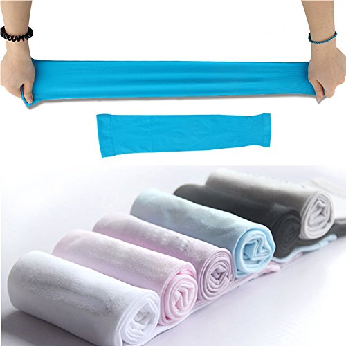 MUXININ Arm Sleeve UV Protection Cool Compression Cooler Long Arm Band for Outdoor Activities Driving 1 Pair