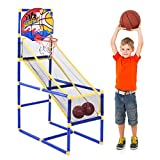 HADST Basketball Arcade Game Toy,Children Indoor Play Equipment,Shooting Toy, Sports Activities, Chirstmas Birthday Party Games Gifts for Kids 2-10 Year Old Boys Girls, Balls& Pump Included