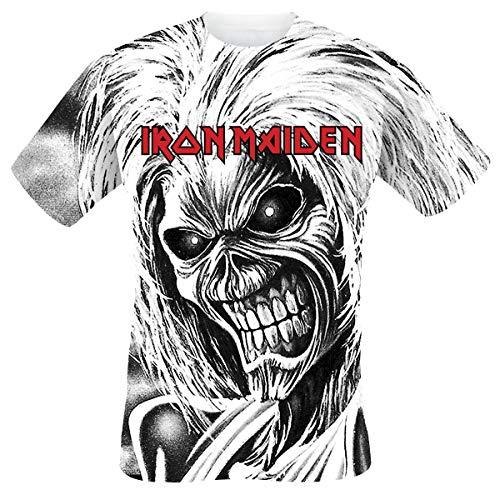 Iron Maiden Killers Allover Uomo T-Shirt Bianco L 100% Cotone Regular