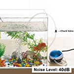 Aquarium-Luftpumpe-Sauerstoff-Belfter-des-Aquarium-Luftausstrmer-13W-fr-Fisch-Behlter-Teich-Wasserkultur-Entengrtze-Anlage-wachsen-mit-Luft-Stein-Silikon-Rohr-Rckschlagventil-40-dB-Lrm