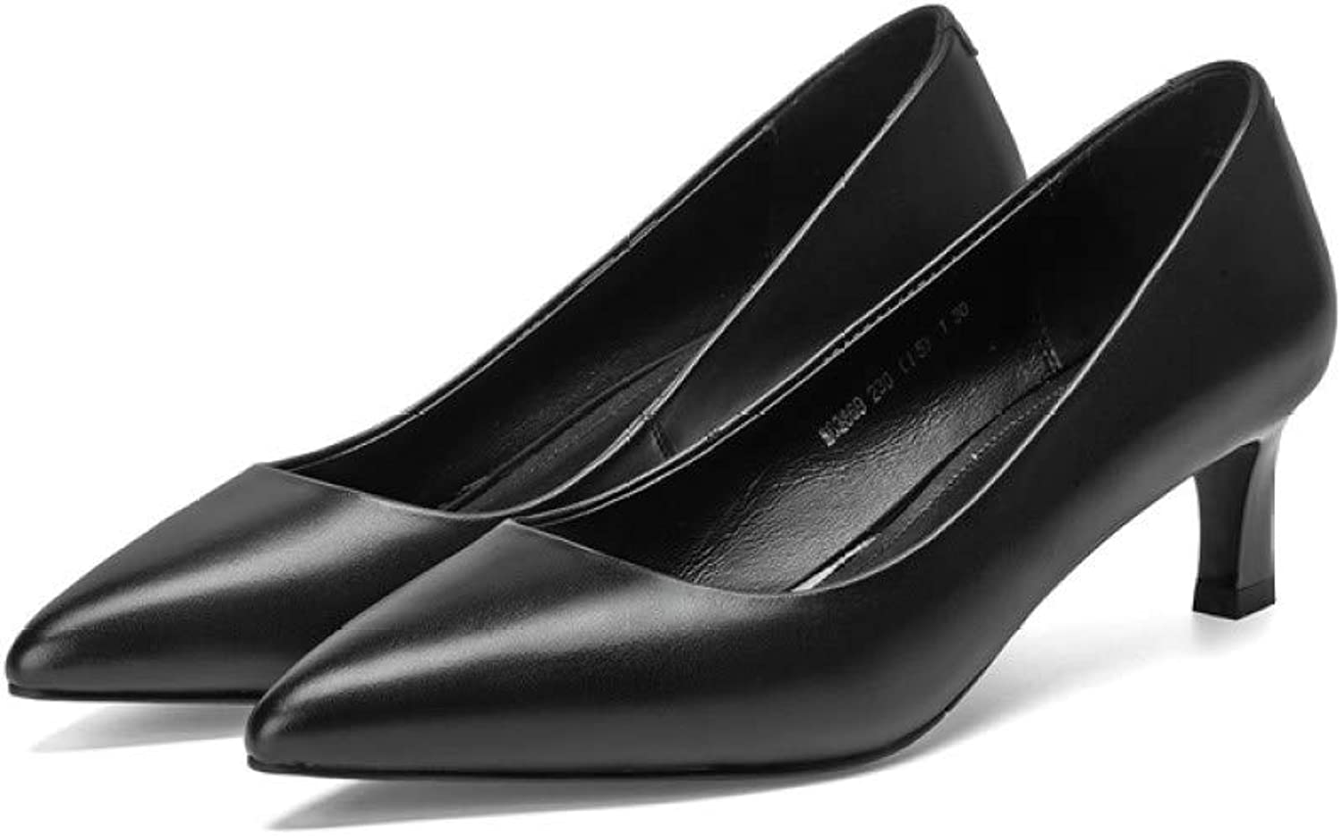 GanQuan2018 Women Black Pumps, Classic Shallow Pointed Toe High Thin Heels Office Dress shoes