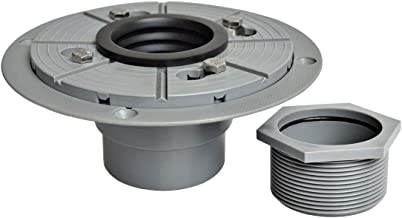 Neodrain PVC Shower Drain Base Kit Include 2 Inches PVC Shower Drain Base Flange, Threaded Adjustable Adaptor and Rubber C...