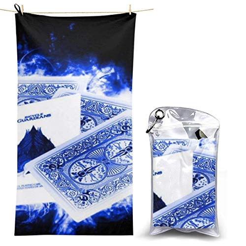 XCNGG Microfiber Beach Towel, Ace of Spades Cards Quick Fast Dry Towel Blanket Sand Free Soft Absorbent Lightweight Bath Towels for Beach, Bath, Swim, Travel