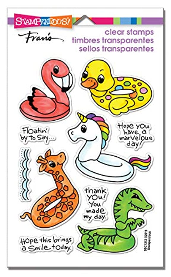 Stampendous SSC1313 Floaties Perfectly Clear Stamp Set,