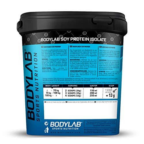 Bodylab24 Soya Protein Isolat Vanille, 1er Pack (1 x 1000g) - 3