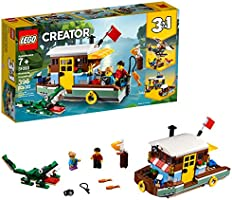 LEGO Creator 3in1 Riverside Houseboat 31093 Building Kit , New 2019 (396 Piece)