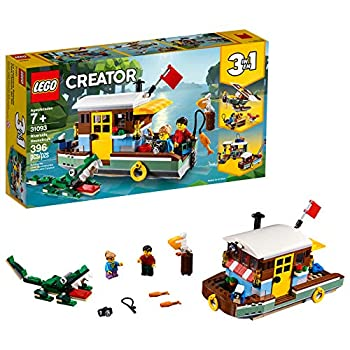 LEGO Creator 3in1 Riverside Houseboat 31093 Building Kit  396 Pieces