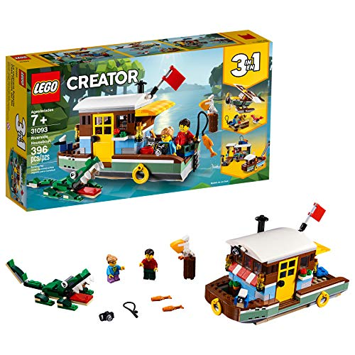 LEGO Creator 3in1 Riverside Houseboat 31093 Building Kit (396 Pieces)