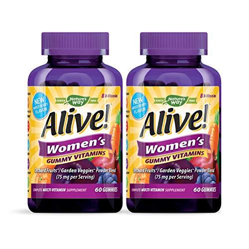 Nature's Way Alive! Women's Complete Multi Vitamin Gummy, 60 Gummies, Pack of 2