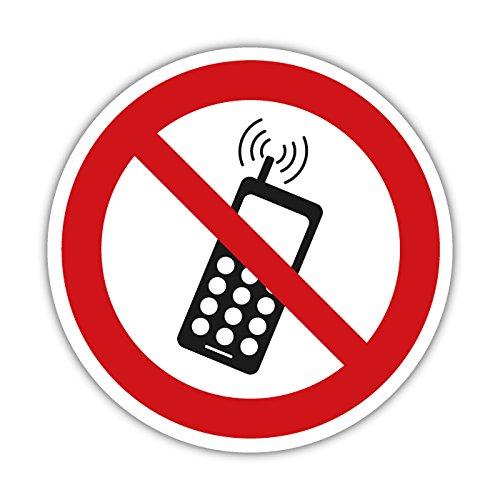 Handyverbot Aufkleber, Warnzeichen, Verbotsschild 10cm (ohne Text)